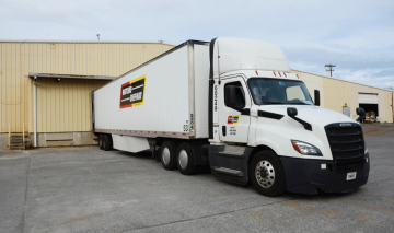 Watkins Shepard Truck at Massood Logistics Warehouse in Greensboro NC