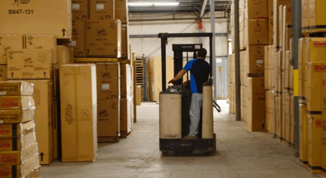 Preparing a drop ship order at Massood Logistics warehouse